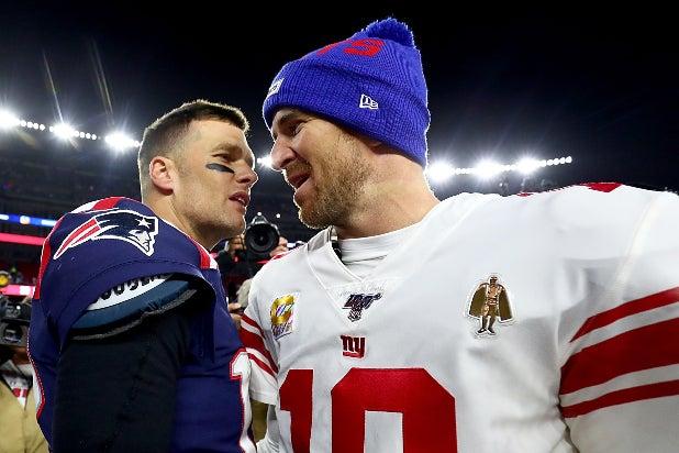 Eli Manning and Tom Brady
