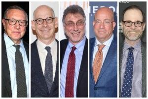 Norm Pearlstine, James Goldston, Marty Baron, Jeff Zucker, Stephen Adler