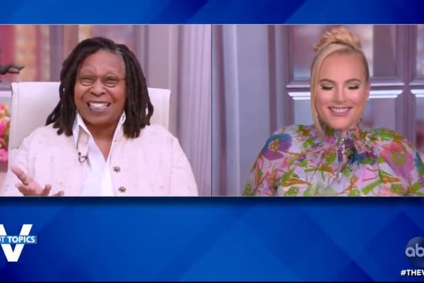 'The View': Whoopi Goldberg Cracks Up Over Newsmax Anchor Walking Out on Mike Lindell (Video)