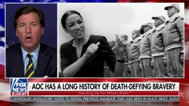 tucker carlson aoc tuskegee airperson photoshop
