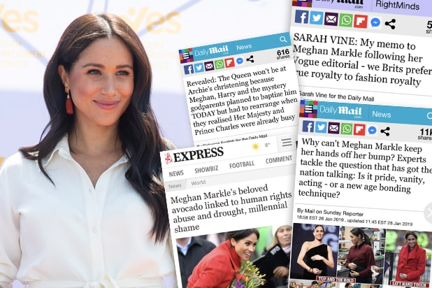 Meghan Markle tabloid coverage