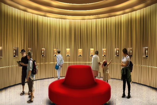 Rendering of gallery in Academy Museum of Motion Pictures
