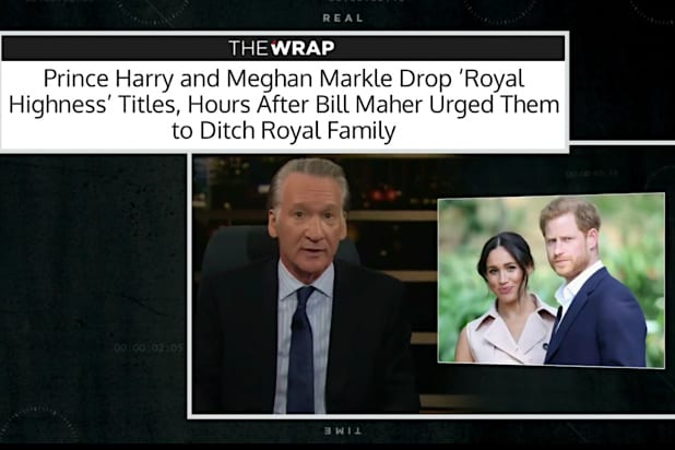 Bill Maher prince harry Meghan Markle TheWrap