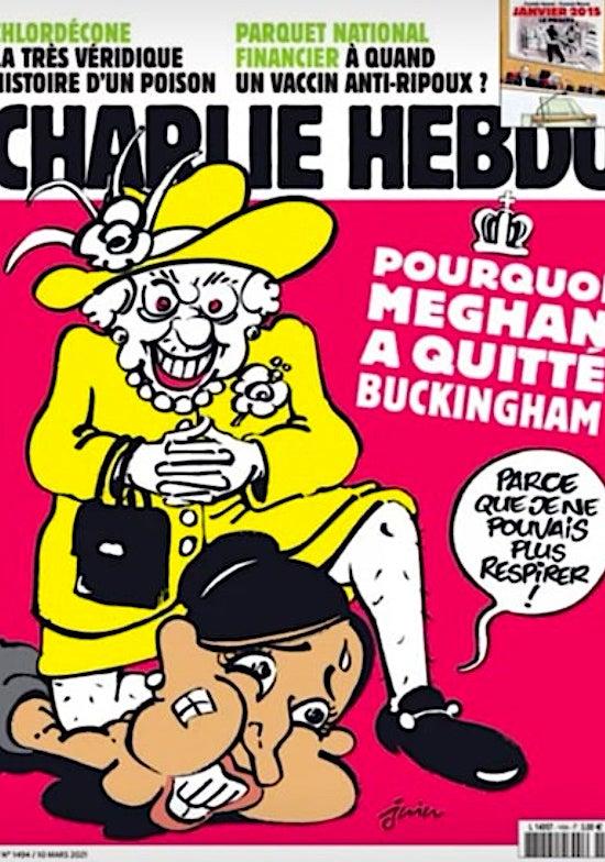 Charlie Hedbo Queen Elizabeth Meghan Markle