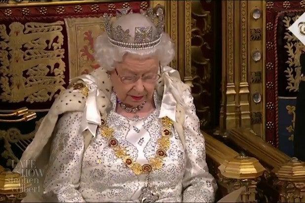 Colbert Queen Elizabeth Meghan Markle Beef