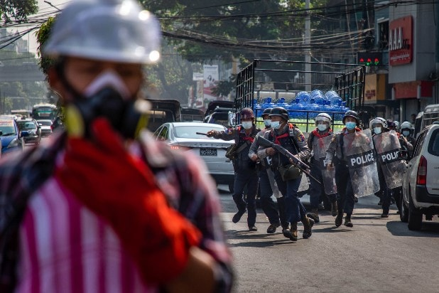 Getty Images Riot Police Myanmar