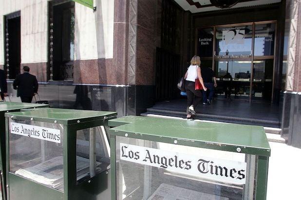 LA Times newspaper racks