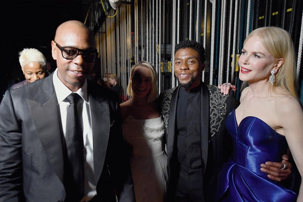 Chadwick Boseman at the Oscars