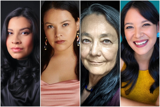 Killers of the Flower Moon Indigenous Cast Tantoo Cardinal, Cara Jade Myers, JaNae Collins and Jillian Dion