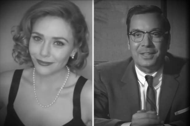 Jimmy Fallon and Elizabeth Olsen's Decade-Hopping 'WandaVision' Interview Is Sabotaged by Kathryn Hahn (Video).jpg