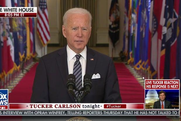 Fox News Adds Weird 'Tucker Reaction' Cam to Biden Speech (Video) thumbnail
