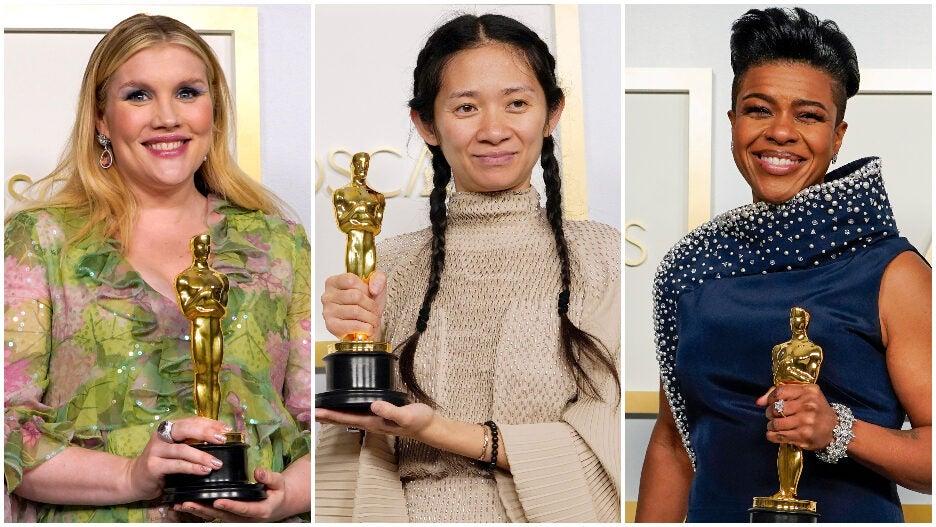 2021 Oscars Women Emerald Fennell Youn Yuh-jung Mia Neal