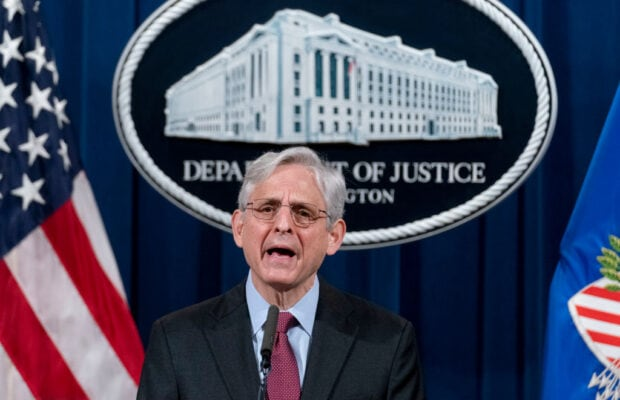 Attorney General Merrick Garland Makes Statement At The Justice Department