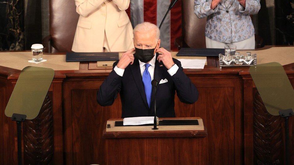 Kamala Wears a Mask at Joint Session Speech