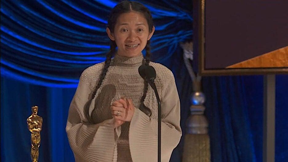 Chloe Zhao 2021 Oscars Nomadland