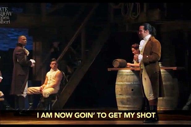 Colbert Late Show Hamilton Vaccine