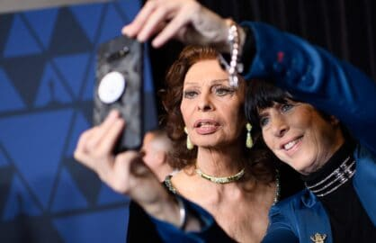 Diane Warren and Sophia Loren