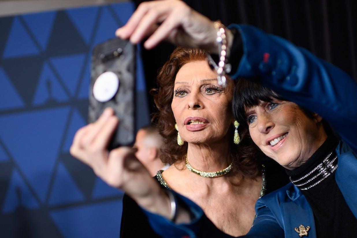 Diane Warren and Sophia Loren