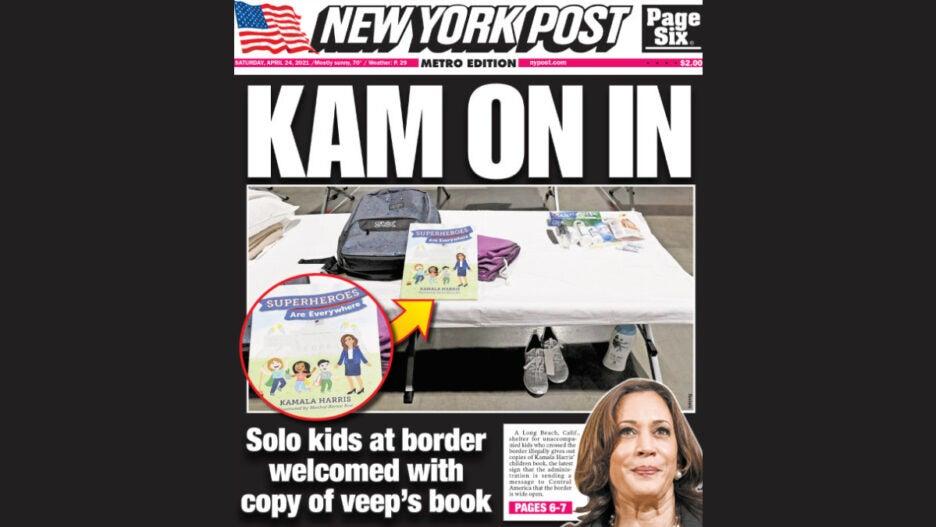 New York Post Kamala Harris cover