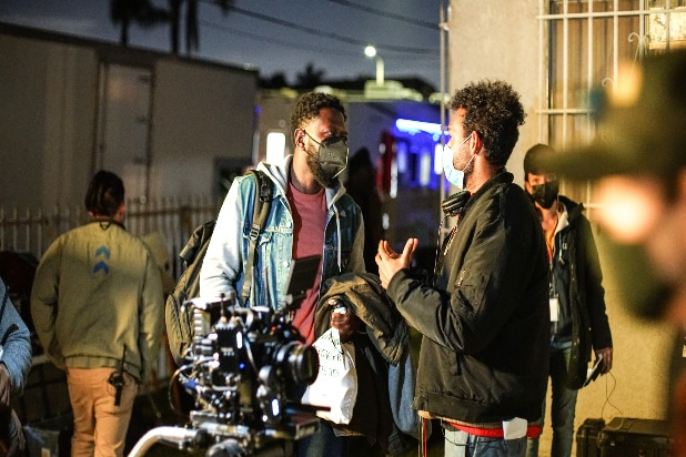 Bill Posley directs Sheaun McKinney in Bitch Ass the Movie