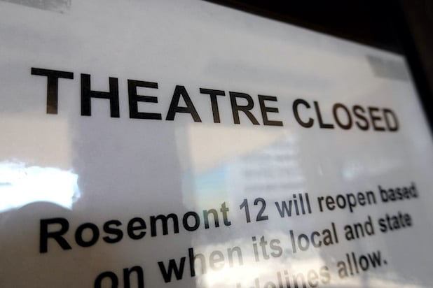 Theaters closed