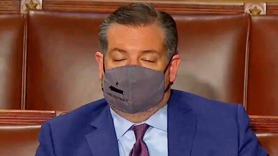 Ted Cruz Nap Time Biden Speech