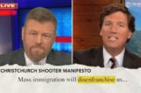 daily show calls out tucker carlson for stealing racist talking points from white supremacist mass shooter manifestos