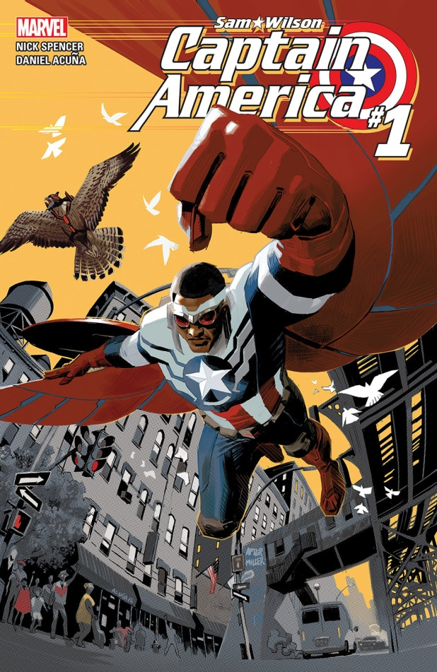 the falcon and the winter soldier marvel comics captain america sam wilson suit