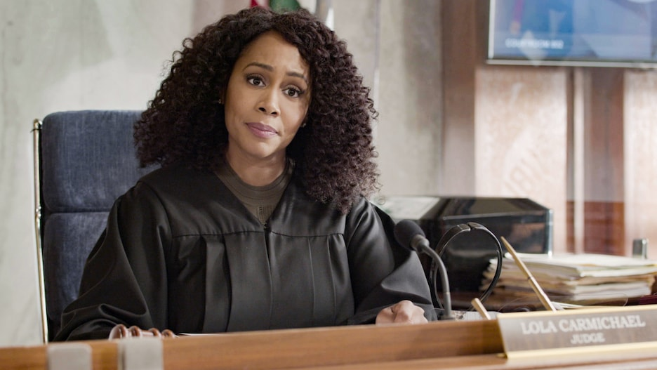 """""""Yeet"""" – The murder trials against Alexander Moore (Zayne Emory) and Jack Allen (Derek Luh) begin, and the pressure mounts when Lola agrees to allow media into the courtroom to support her re-election campaign. Also, Mark and Amy commit to their relationship, even though they're on opposite sides of the trial, and Luke looks for a way to win Emily back, on the second season finale of ALL RISE, Monday, May 24 (9:00-10:00 PM, ET/PT), on the CBS Television Network. Pictured: Simone Missick as Lola Carmichael"""