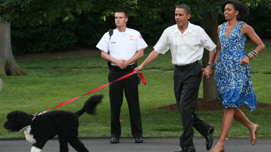 Barack Obama Michelle Obama Bo