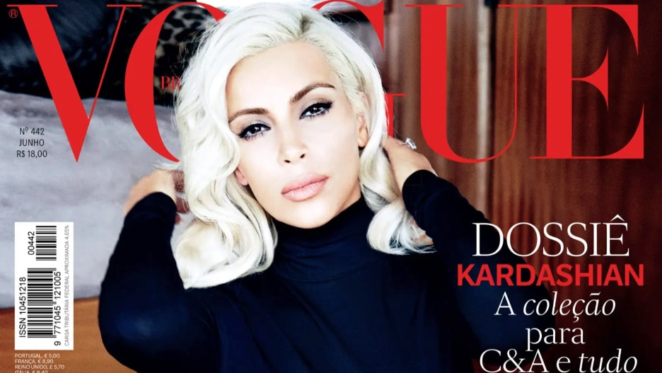 Kim Kardashian Marilyn Monroe Vogue