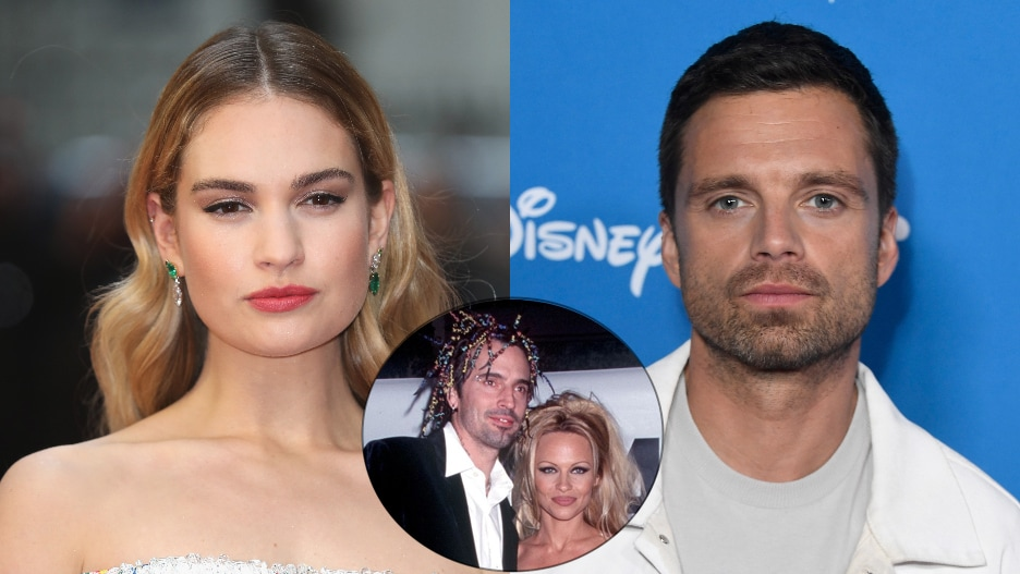 Lily James Sebastian Stan Tommy Lee Pamela Anderson