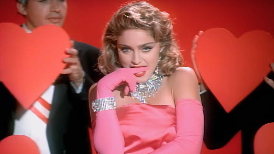 Madonna Marilyn Monroe Material Girl