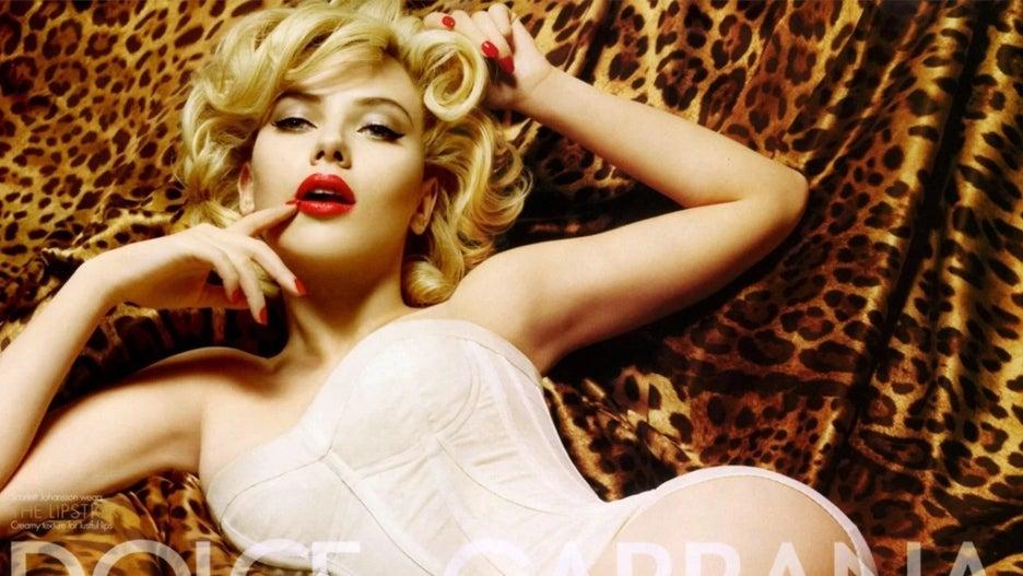 Scarlett Johansson Marilyn Monroe Dolce & Gabana