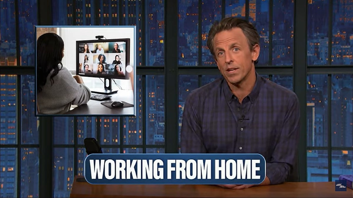 Seth Meyers COVID Keepers Working From Home