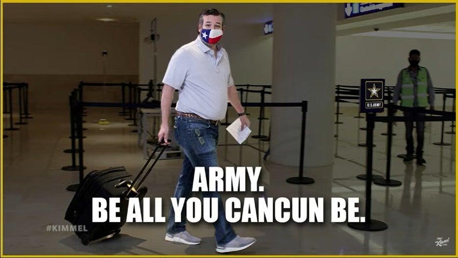 Ted Cruz Army Cancun