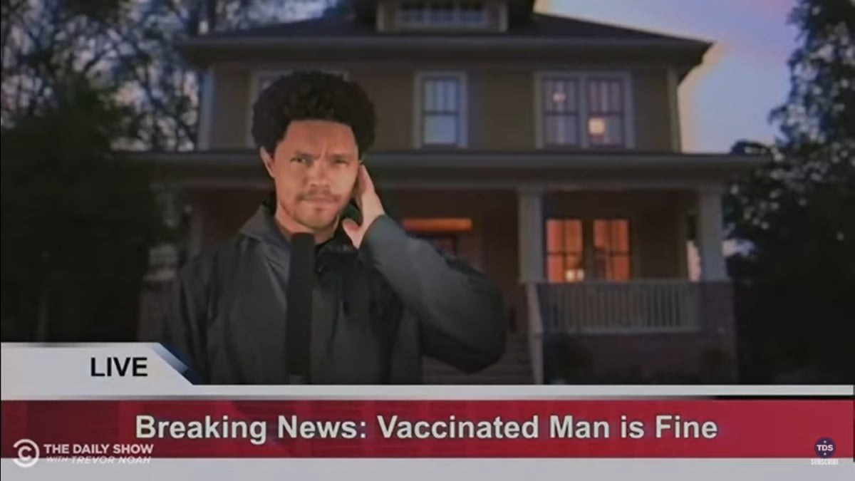 Trevor Noah Shows How Accurate COVID Vaccine TV Reporting Would Look (Video) thumbnail