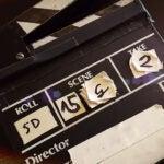 film producer clap board