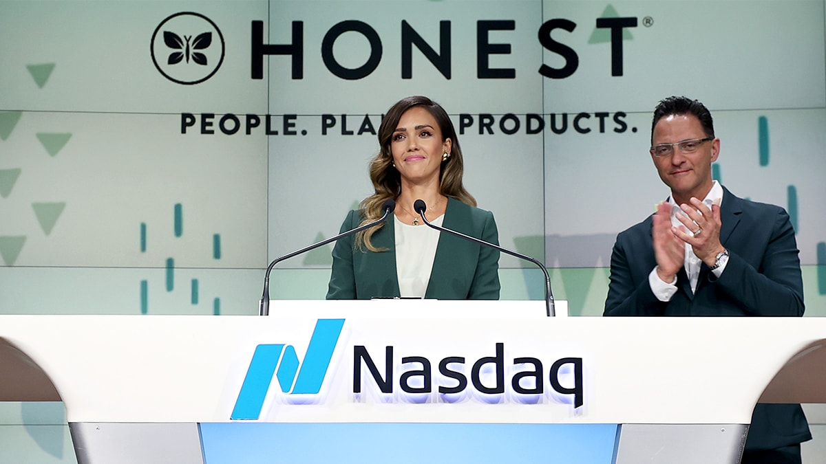 Jessica Alba Made $130 Million Today as Her Honest Company Went Public