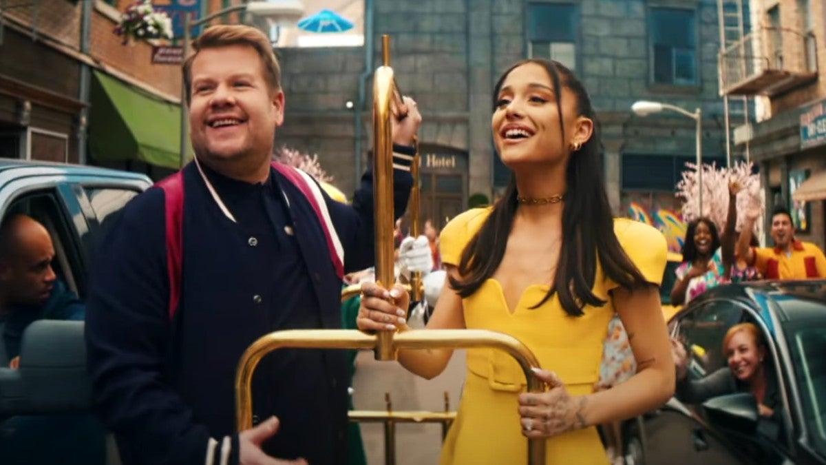 James Corden and Ariana Grande Bid Farewell to Lockdowns in 'Hairspray' Parody (Video).jpg