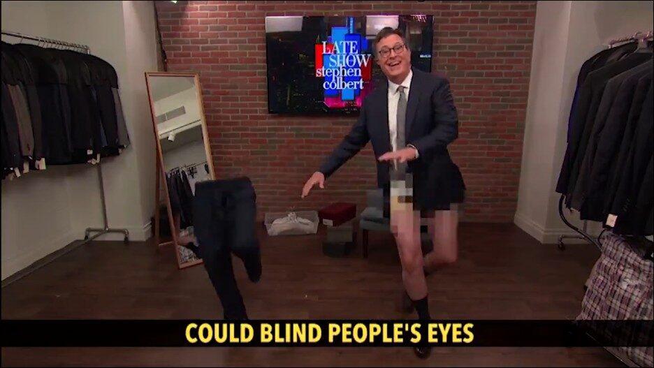 Stephen Colbert Singing Dancing Pants