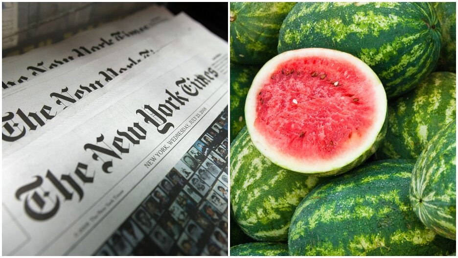 new york times watermelons mars