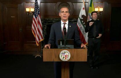 Eric Garcetti Vaccine Test Mandate City of Los Angeles