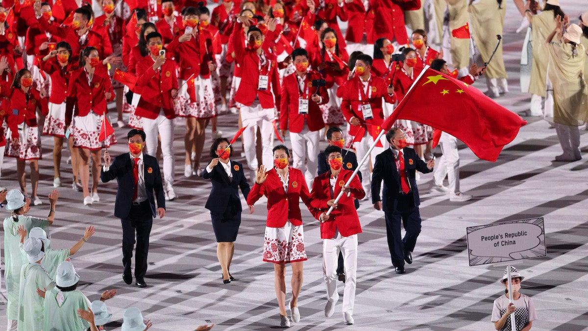 China Map Tokyo Olympics Opening Ceremony