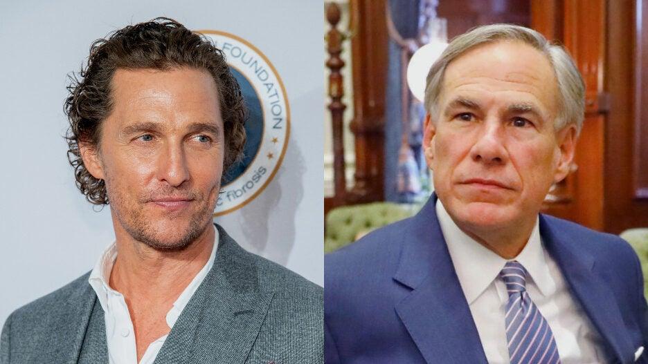 Matthew McConaughey Texas Gov. Greg Abbott