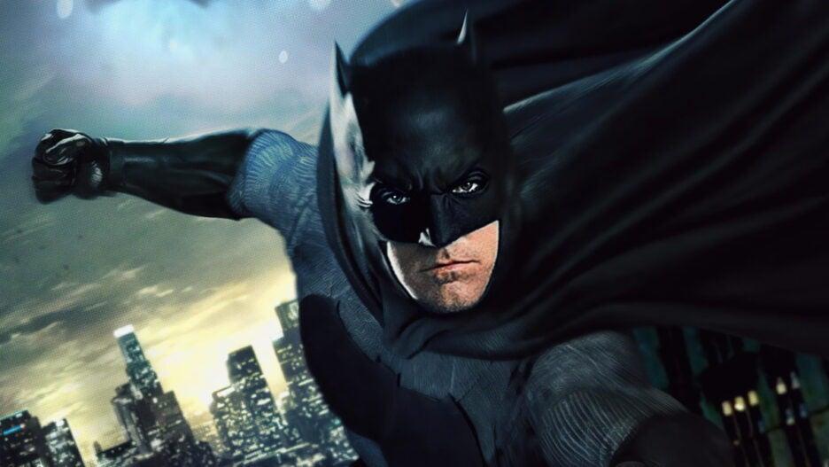 The Flash Ben Affleck Batman Batsuit Batcycle