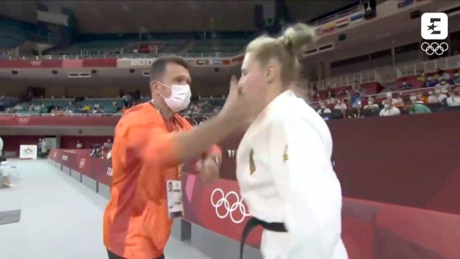 olympics judo warm-up