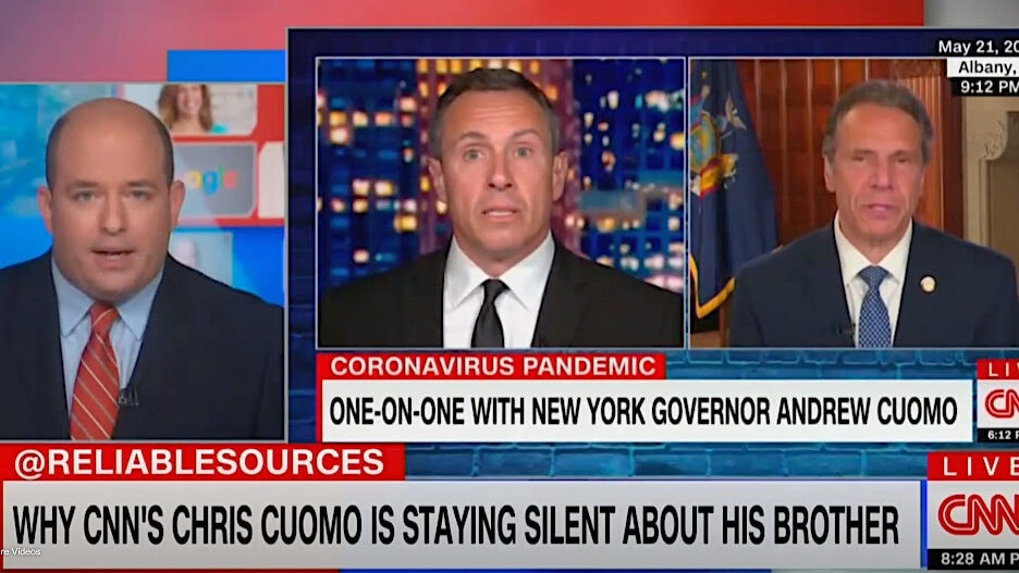 Brian Stelter Chris Cuomo Andrew Cuomo