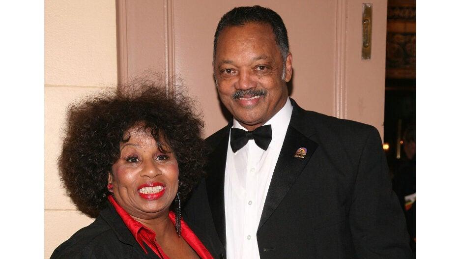 Jesse Jackson and his wife Jacqueline Brown Jackson
