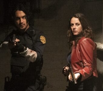 """Leon S. Kennedy (Avan Jogia) and as Claire Redfield (Kaya Scodelario) in """"Resident Evil: Welcome to Raccoon City"""""""